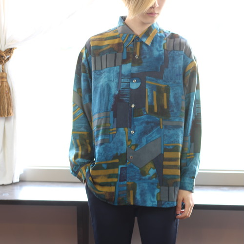 RETRO LONG SLEEVE SHIRT/レトロ古着長袖