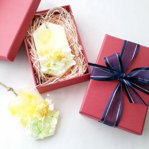 母の日gift set♡イエロー♡アロマワックスサシェ2個セット