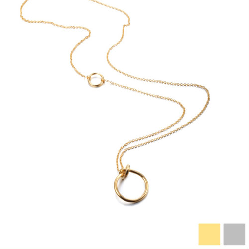 knot long necklace