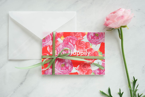 "Blooming Postcard ""Live Happily"" ポストカードセット"