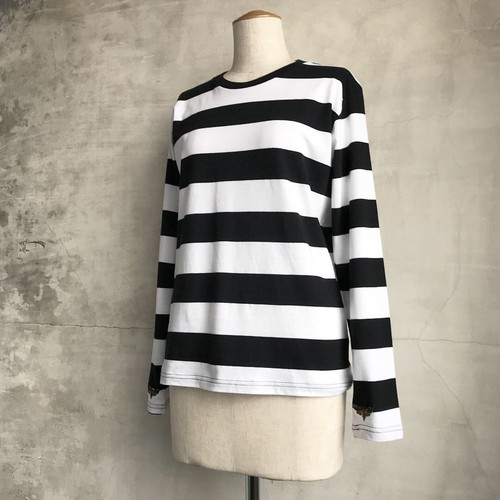 Moth border long sleeve shirt【PAYS DES FÉES HOMME】