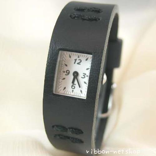 CABANE de ZUCCa ブラック ズッカ腕時計レザー:スリムタイプ【送料無料】AWGK019