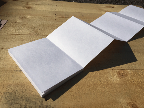 【ベテランセット・小サイズしろ】自分でつくる御朱印帳 本文、ボール紙、上質紙、表箋のみ