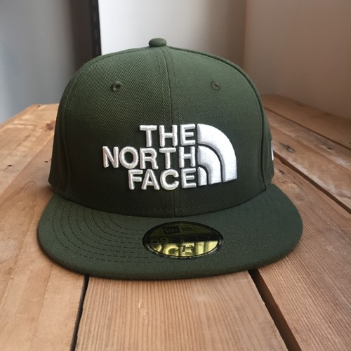 USストア限定 The North Face x New Era Half Dome Logo Cap Olive