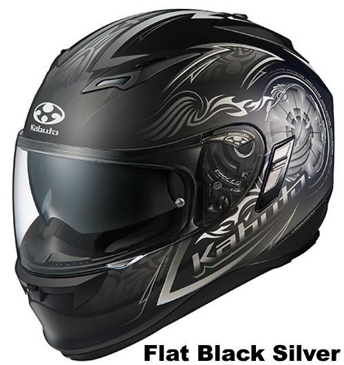 OGK KAMUI 2 BLAZE Flat Black Silver