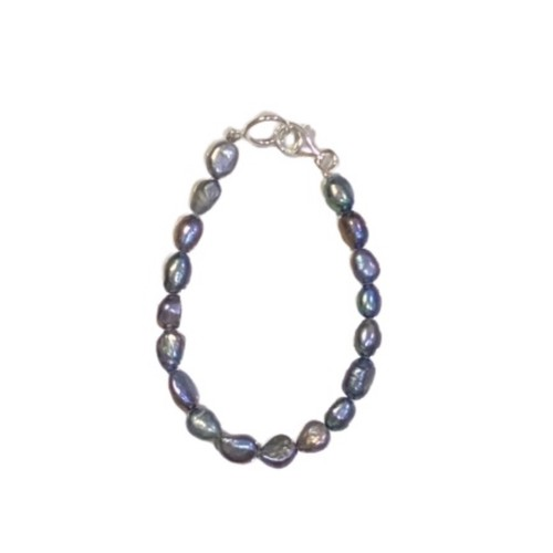 SPARKING Potato Pearl Bracelet BLACK