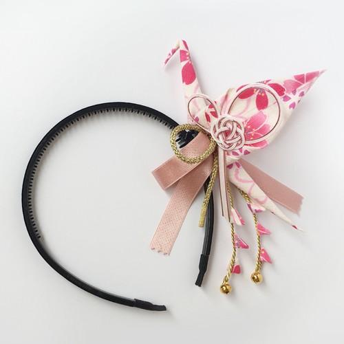 織り鶴カチューシャ3