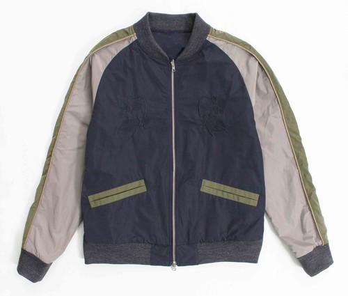 Enharmonic TAVERN Souvenir Jacket -Navy / Polka Dots