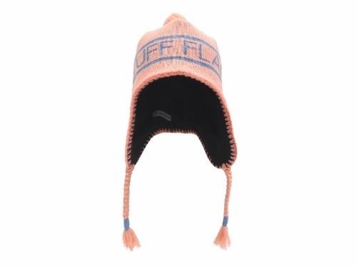 """KNIT CAP""""F-LAGSTUF-F"""" PINK"""