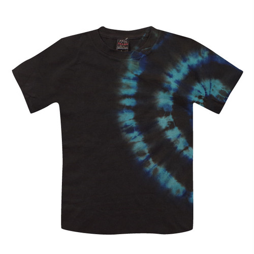 カジュアル藍泥染Tシャツ|さんご礁 ターコイズブルー/ad005