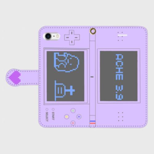 ぼっちDS 手帳型スマホケース(紫)