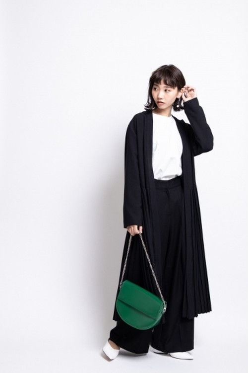 il - pleats cardigan/black