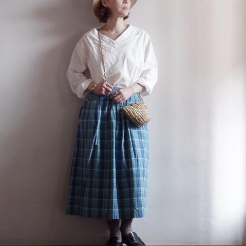 Cotton Plaid Skirt / コットン チェック スカート
