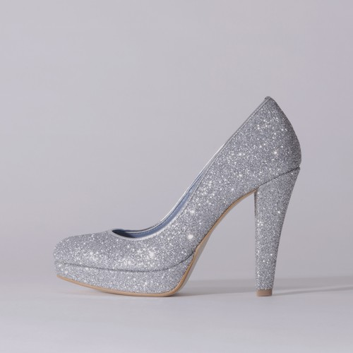 Glitter / Close Toe / 12cm / Silver 【1123 SVG】