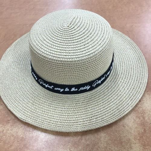 ZIDDY 1234-12508 ロゴ刺しゅうペーパークラフトカンカン帽