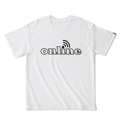 is-ness online T-SHIRT(WHITE)
