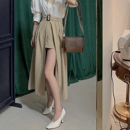 variation trench skirt 2color