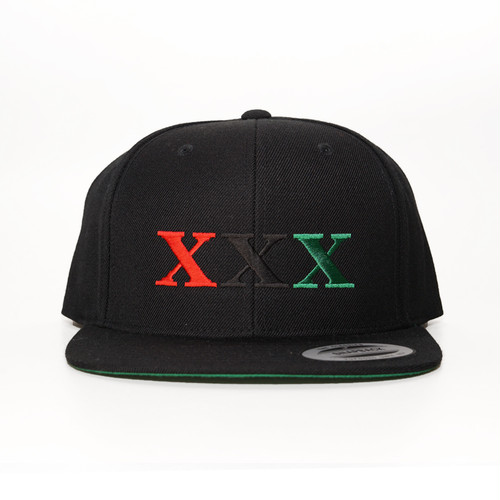 Stay Black Salute XXX 6PANEL SNAPBACK CAP (BLACK)