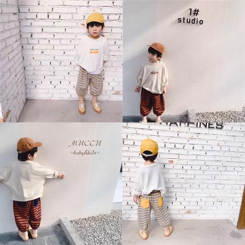 送料無料!【予約販売】カジュアル ストライプ パンツ 80cm〜130cm  男の子 兄弟 双子 女の子 姉妹 キッズ