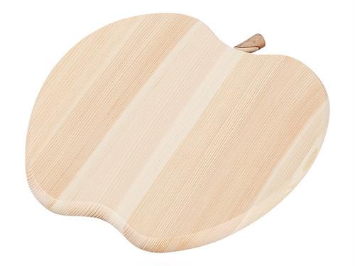 木製まな板 送料無料!「四万十ヒノキ アップル卓上まな板 長さ21×幅21cm(厚み1.5cm)」