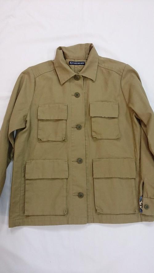 Tigre brocante  サージレディースアーミーショートジャケット
