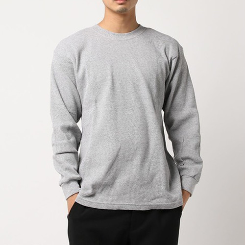 8.1oz Heavy Weight Waffle L/S Cut&Sewn - H.Gray -