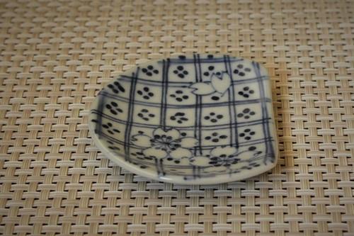 格子箸休め豆皿