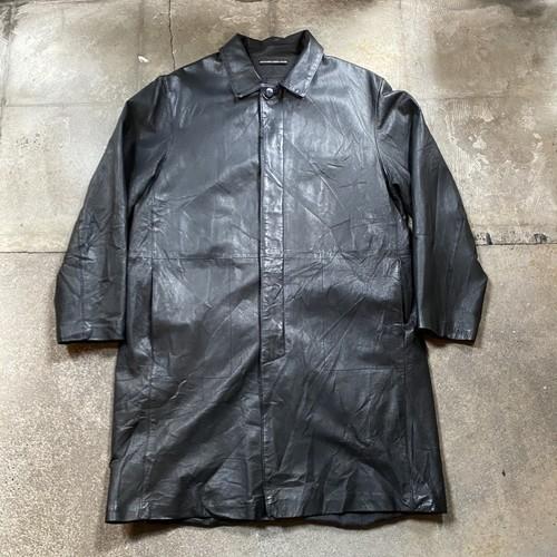 00s Leather Coat