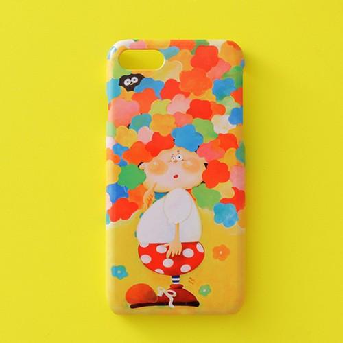 送料無料♪スマホケース スマホカバー/iPhone/Galaxy/Xperia/ほぼ全機種対応♪イラストが可愛い 【テーマ:花 女の子 カラフル】