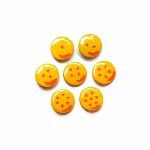 "OTHER WORLD""Dragon Balls (complete set) lapel pins"""
