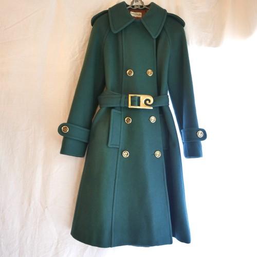 Pierre Cardin 1960~1970's Green Wool Coat -Rare!-