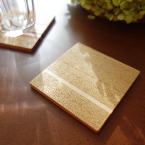 木製コースター【Line】メープル
