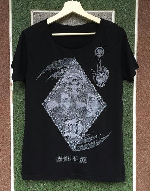 LOUD×神眼芸術コラボTシャツ(BK)