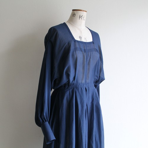 JUN MIKAMI 【 womens 】silk cotton square neck dress