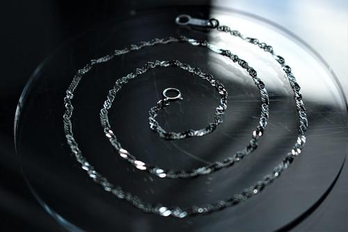 #01.【SCREW】× chain necklace  × 925silver