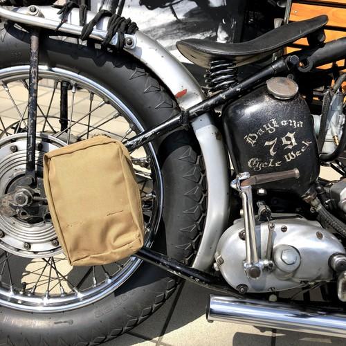 カーキポーチ バイク乗りに バイカー ツールバッグ チョッパー
