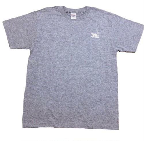 LY:Original T-Shirts グレーボディー (Back Print) ① 2020001BPG
