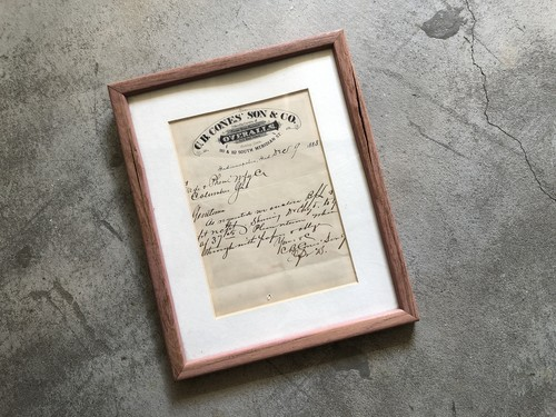 Vintage AD Frame Box-3 G.B.Cones Son &Co