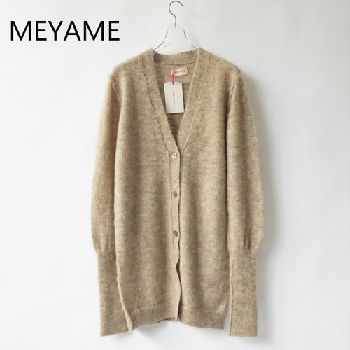 MEYAME/メヤメ・Reversible Fluffy Long Cardigan