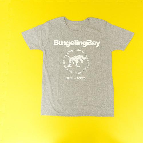 BungelingBay Tシャツ(グレー×白字バックプリントLove&Humor)