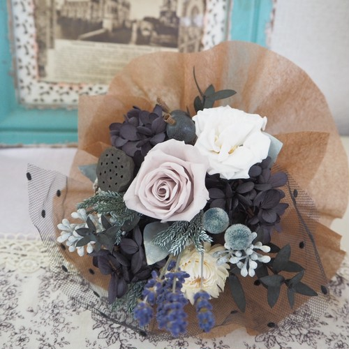 Bleu Nuit *Petit Bouquet ミニブーケ・壁掛け