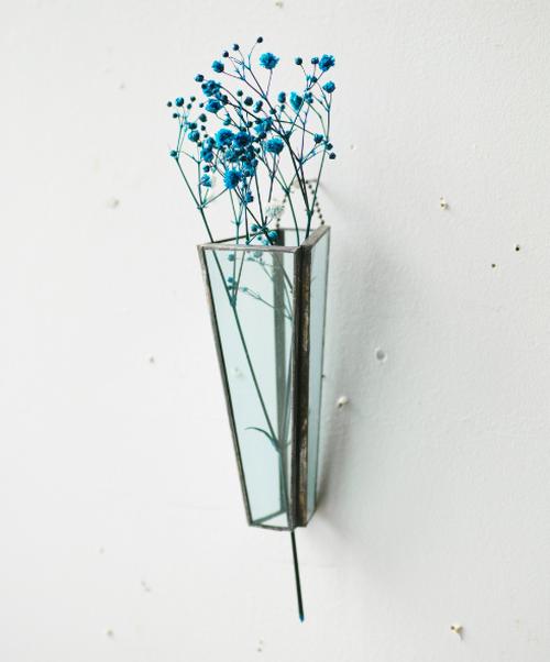 植物器:trapezium vase〚かすみ草 ブルー〛