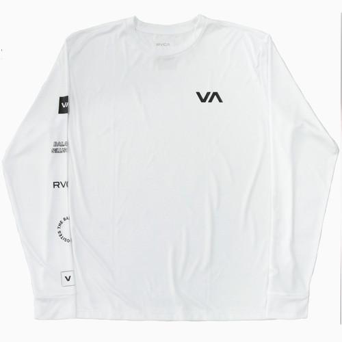 【RVCA】ALL OUT RVCA LS (WHITE)