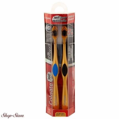 コルゲート チャコール ゴールド 360 歯ブラシ / Colgate Charcoal Gold 360 Toothbrush 2本組