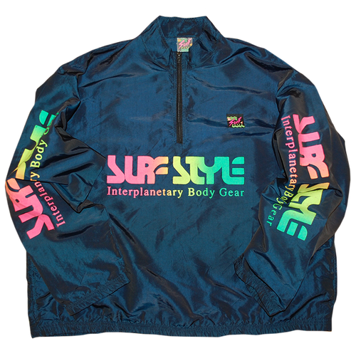 """Surf Style"" Vintage Pull Over Nylon Jacket Used"