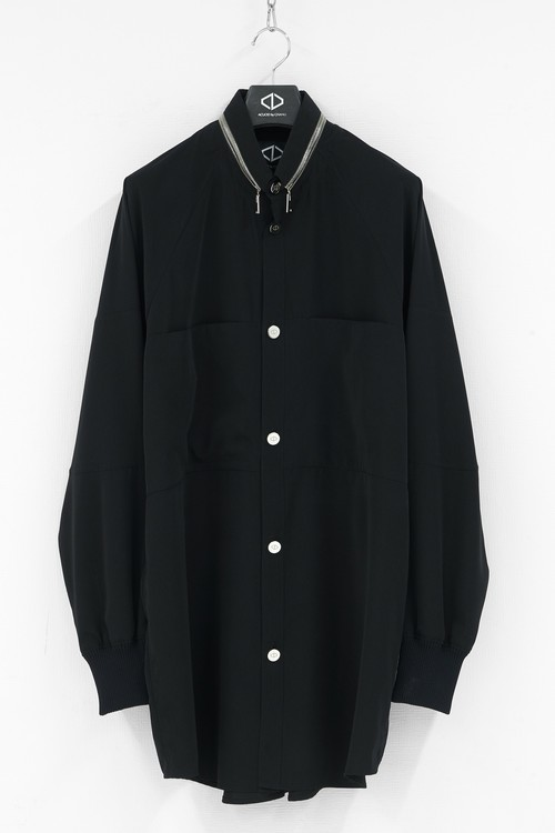 Panel Pocket Rib Shirts / Black [20-21AW COLLECTION]