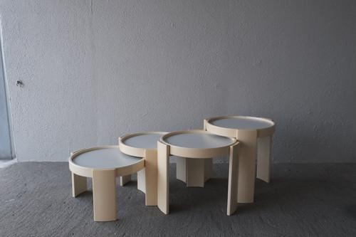 Gianfranco Frattini Nesting tables Cassina ジャンフランコ・フラッティーニ ネストテーブル 中古カッシーナ