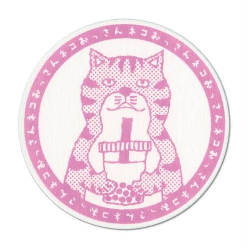 【コースター】ネコおっさん タピオカミルクティー