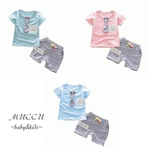 送料無料!【予約販売】 ネクタイTシャツ & パンツ 80cm〜110cm