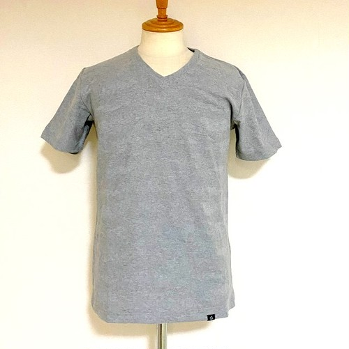 Links-JQ Camouflage V-neck T-shirts Gray